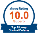 Avvo Rating 10,0 Superb Criminal Defense